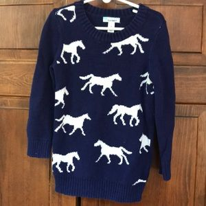 Children's horse sweater size 5/XS